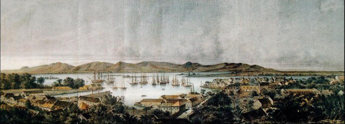 Guadeloupe harbor panorama