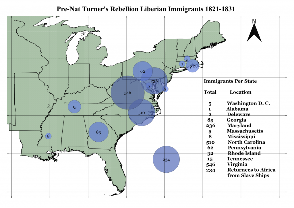 Dan Degges Liberian Immigration map 1